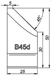 B45d 45° Резец для снятия фаски