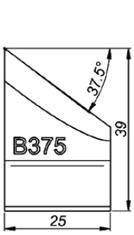 B375 37.5° Резец для снятия фаски