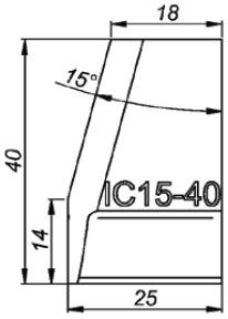 IC15-40 15° Резец для внутренней калибровки (для ∅ больше 56 мм)