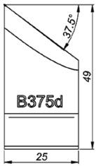 B375d 37.5° Резец для снятия фаски