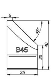 B45 45° Резец для снятия фаски