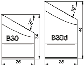 B30 30° Резец для снятия фаски