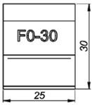 F0-30 0° Резец для торцевания