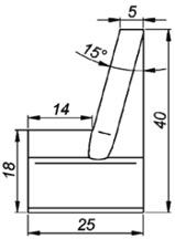 IC15-40 15° Резец для внутренней калибровки